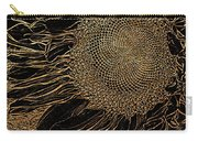 Sunflower Gold Leaf Sketch Carry-all Pouch