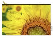Sunflower In Field Carry-all Pouch by Elena Elisseeva