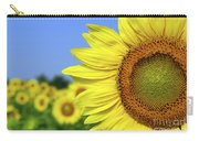 Sunflower In Sunflower Field Carry-all Pouch by Elena Elisseeva