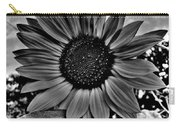 Sunflower In Black And White Carry-all Pouch