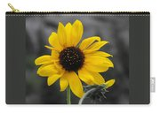 Sunflower On Gray Carry-all Pouch