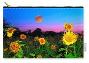 Sunflower Patch And Moon  Carry-all Pouch