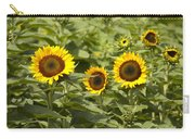 Sunflower Patch Carry-all Pouch by Bill Cannon