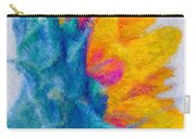Sunflower Profile Impressionism Carry-all Pouch