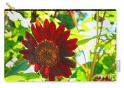 Sunflower - Red Blazer - Luther Fine  Art Carry-all Pouch