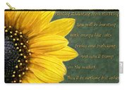 Sunflower Scripture Carry-all Pouch