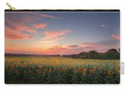 Sunflower Sunset Carry-all Pouch by Bill Wakeley