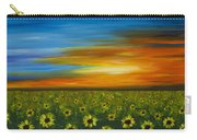 Sunflower Sunset - Flower Art By Sharon Cummings Carry-all Pouch by Sharon Cummings