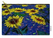 Sunflower Tiled Oil Painting Carry-all Pouch
