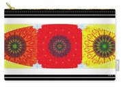 Sunflower Trio - Triptych - Flowers Carry-all Pouch