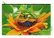 Sunflower Volunteer Half Bloom Carry-all Pouch