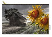 Sunflower Watch Carry-all Pouch by Debra and Dave Vanderlaan
