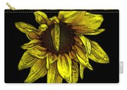 Sunflower With Contours Effect Carry-all Pouch