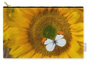 Sunflower With White Butterfly Carry-all Pouch