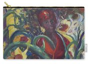 Sunflower Woman #1 Carry-all Pouch by Avonelle Kelsey