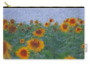 Sunflowerfield Abstract Carry-all Pouch