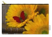 Sunflowers And Old Books Carry-all Pouch by Garry Gay