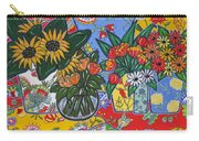 Sunflowers And Poppies Carry-all Pouch