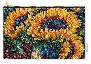 Sunflowers Bouquet In Vase Carry-all Pouch