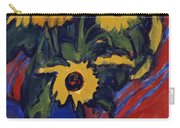 Sunflowers Carry-all Pouch by Ernst Ludwig Kirchner