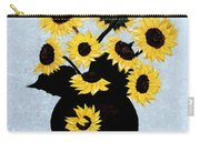 Sunflowers Expressive Brushstrokes Carry-all Pouch
