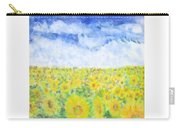 Sunflowers In A Field In  Texas Carry-all Pouch