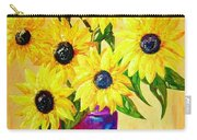 Sunflowers In A Red Pot Carry-all Pouch
