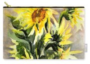 Sunflowers In Abstract Carry-all Pouch