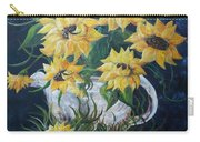 Sunflowers In An Antique Country Pot Carry-all Pouch by Eloise Schneider
