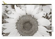 Sunflowers In Back And White Carry-all Pouch