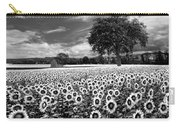 Sunflowers In Black And White Carry-all Pouch