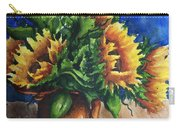 Sunflowers In Copper Carry-all Pouch