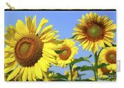 Sunflowers In Field Carry-all Pouch by Elena Elisseeva