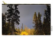 Sunflowers In Northern Garden In Fall Carry-all Pouch