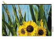 Sunflowers In The Corn Field Carry-all Pouch