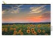 Sunflowers In The Evening Carry-all Pouch by Bill Wakeley