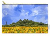 Sunflowers In Tuscany Carry-all Pouch