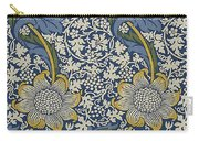 Sunflowers On Blue Pattern Carry-all Pouch