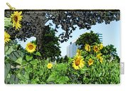 Sunflowers Outside Ford Motor Company Headquarters In Dearborn Michigan Carry-all Pouch by Design Turnpike