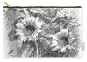 Sunflowers Carry-all Pouch by Sarah Parks