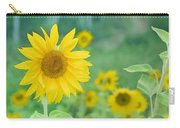 Sunflowers Vintage Dreams Carry-all Pouch