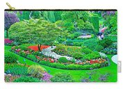 Sunken Garden In Butchart Gardens Near Victoria-british Columbia Carry-all Pouch