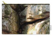 Sunlit Boulder On Shades Mountain Carry-all Pouch