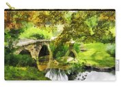 Sunlit Bridge In Park Carry-all Pouch