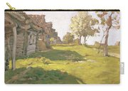 Sunlit Day  A Small Village Carry-all Pouch