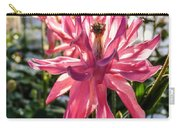Sunlit Fancy Pink Columbine Carry-all Pouch