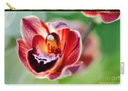 Sunlit Miniature Orchid Carry-all Pouch by Kaye Menner