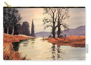 Sunlit River - Chess At Latimer Carry-all Pouch