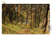 Sunlit Woods In Late Autumn Carry-all Pouch