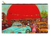 Sunny Day At The Big Orange Julep  Montreal Road Side Diner Carole Spandau Carry-all Pouch